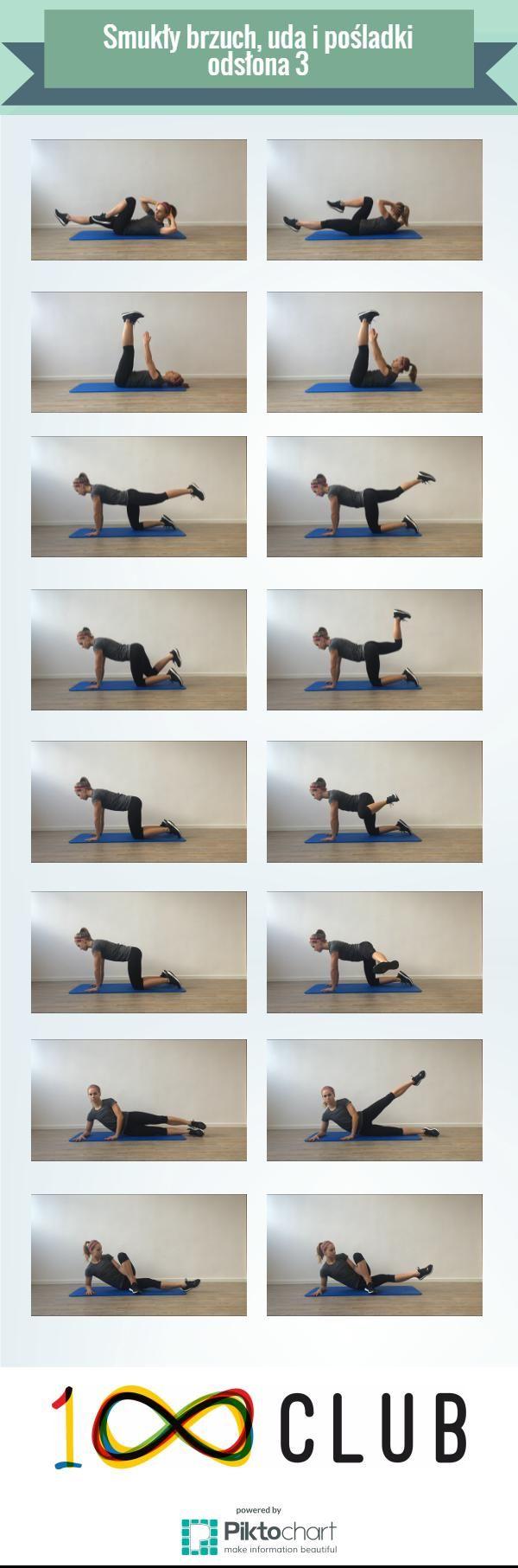 Trening na smukły brzuch, uda i pośladki - odsłona 3! #sport #trening #100club