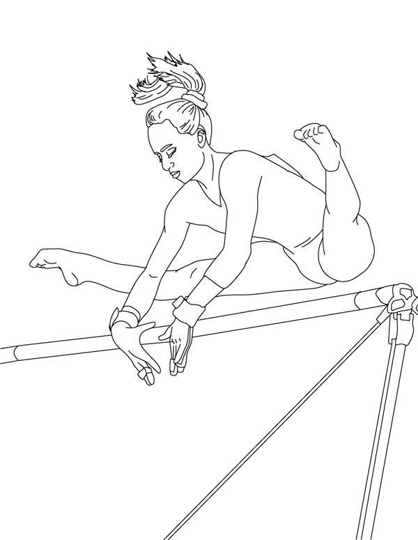 Gymnastics Coloring Pages | Sports Coloring Pages | Pinterest ...