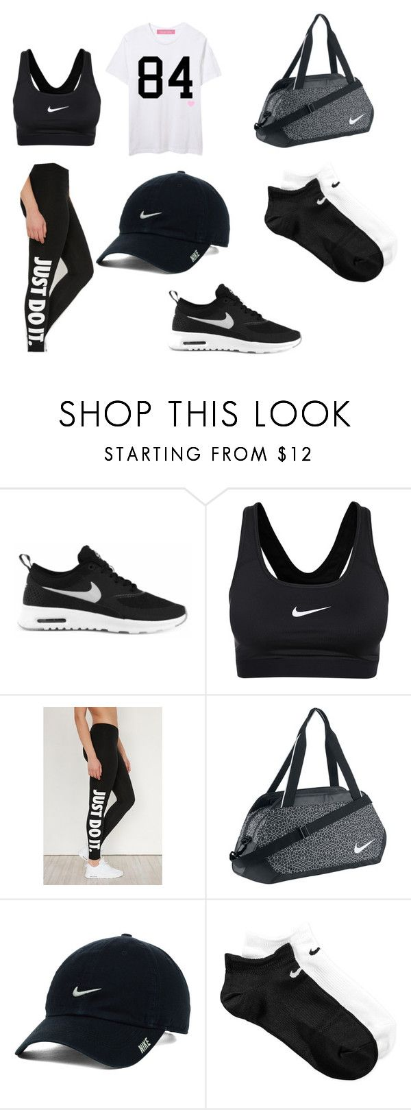 """Cute but Sporty"" by dominyka-januzyte ❤ liked on Polyvore featuring NIKE"