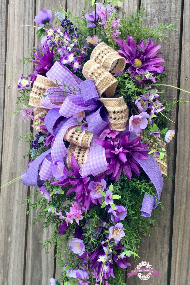 Purple Door Wreath Purple Wreath Everyday Wreath Front Door
