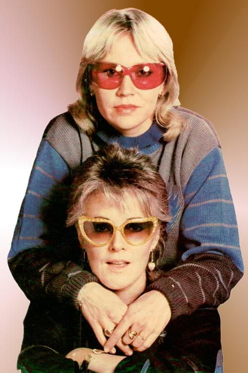 Germany, November 1982: Agnetha and Frida in a funny but yes... sisterly mood at the end of ABBA's career.