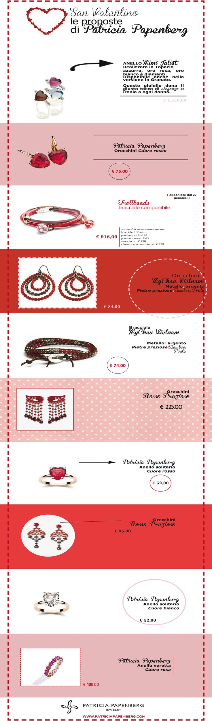 ♥ San Valentino ♥ Le proposte di Gioielleria Patricia Papenberg Jewelry  www.patriciapapenberg.com  #sanvalentino #valentine'sday #jewels #gioielli;
