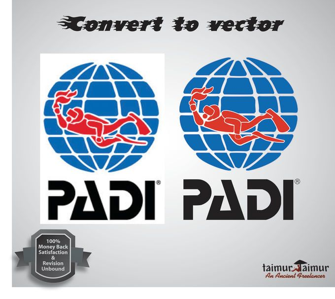 redraw your logo or raster image to vector convert