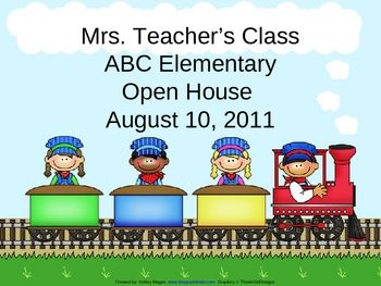 train theme classroom | Open House or Back to School PowerPoint Presentation - Tra