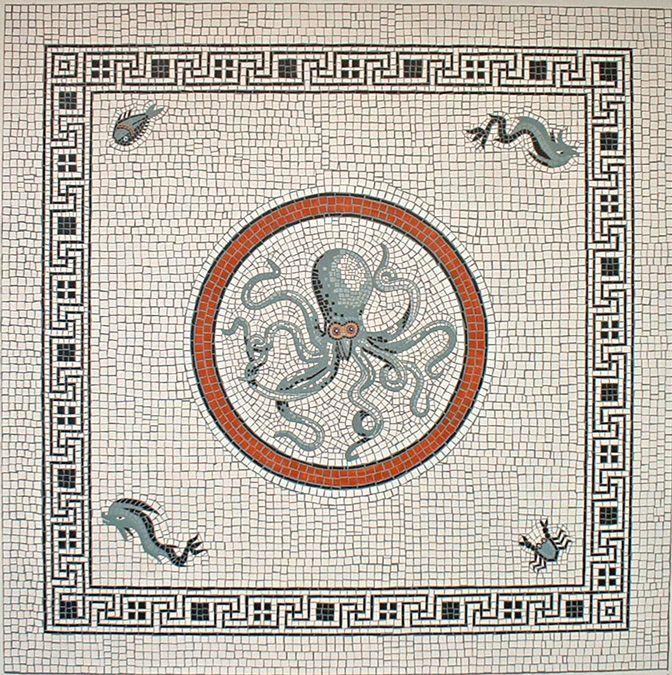 #Antique #Octopus #Pompei #Mosaic