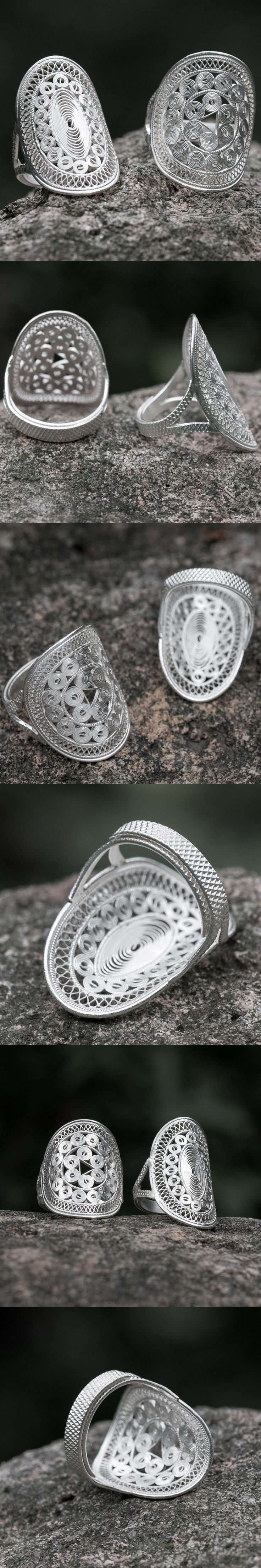 Hot Rings For Women 999 Sterling Silver Handmade  Round Triangle Rings Hallow Out China Style Simple and Generous Gift