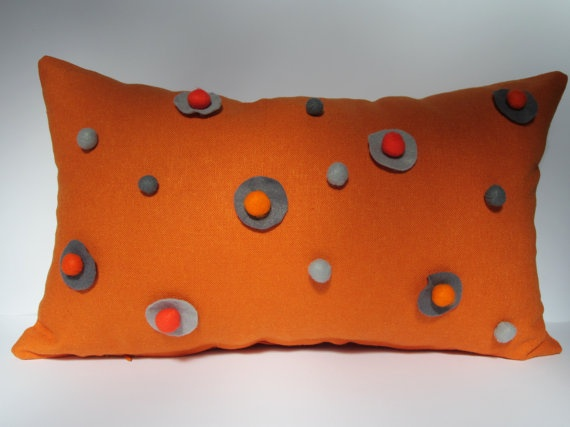 Handmade tuliManna Orange Linen Pillow Case with by tuliManna, $29.00