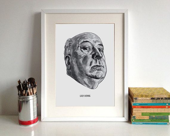 Alfred Hitchcock Poster Print Famous Movie by StandardDesigns, £15.00
