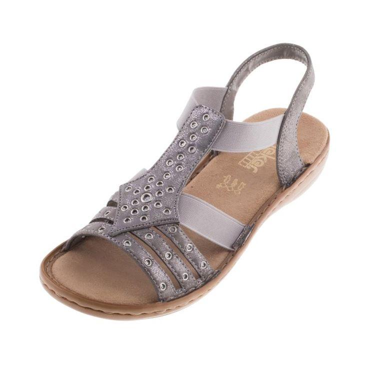 Womens Fashion Sandals Steel/Rose Rieker 1uVo3Snmn