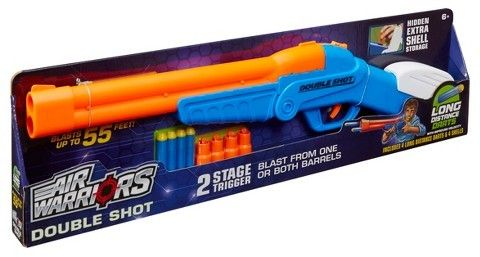 Buzz Bee Toys Air Warriors Over Under Double Shot