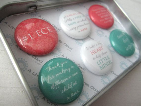 Custom Magnet Teacher Gift Set in English for end of school. Magnets sets can be customized for anyone in any job position. Care givers, daycare workers, teacher assistants, principals.
