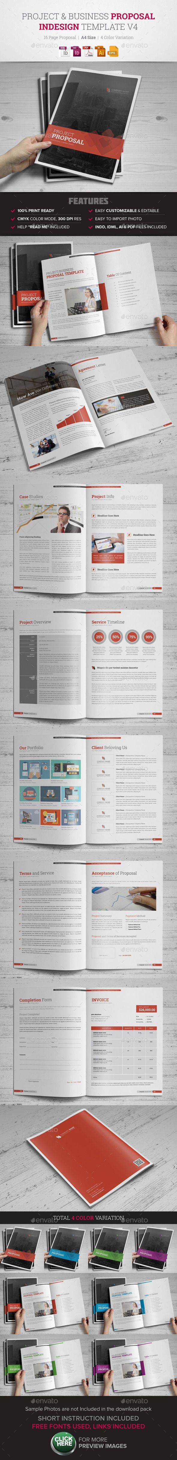 Project & Business Proposal InDesign v4 — Vector EPS #small business…