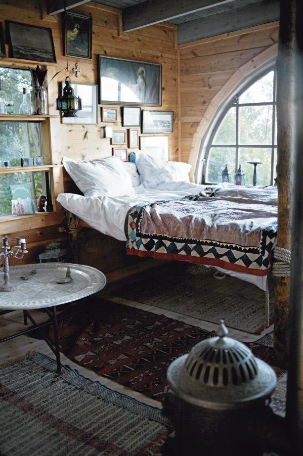cabin: Beds, Wood, Window, Bedrooms Design, Interiors, Places, House, Bohemian Bedrooms, Cabins Bedrooms