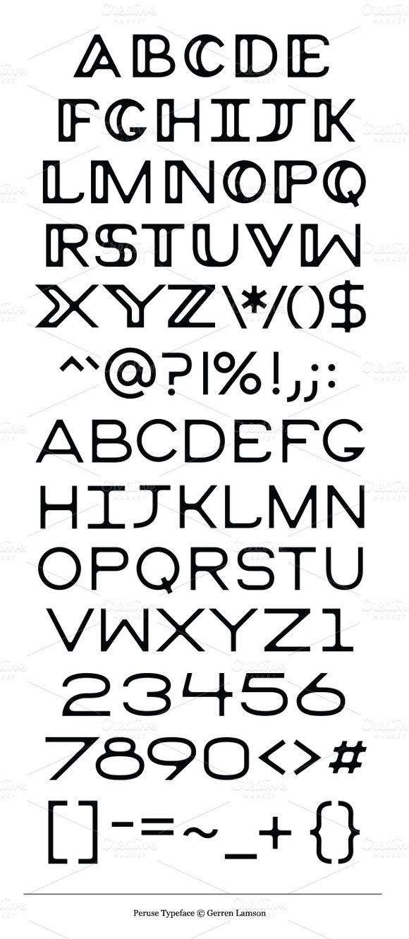 peruse font
