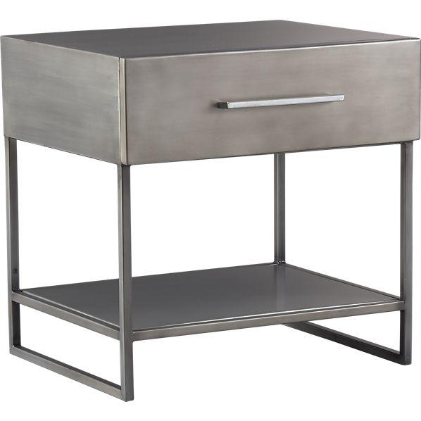 proof metal nightstand silver inspirational
