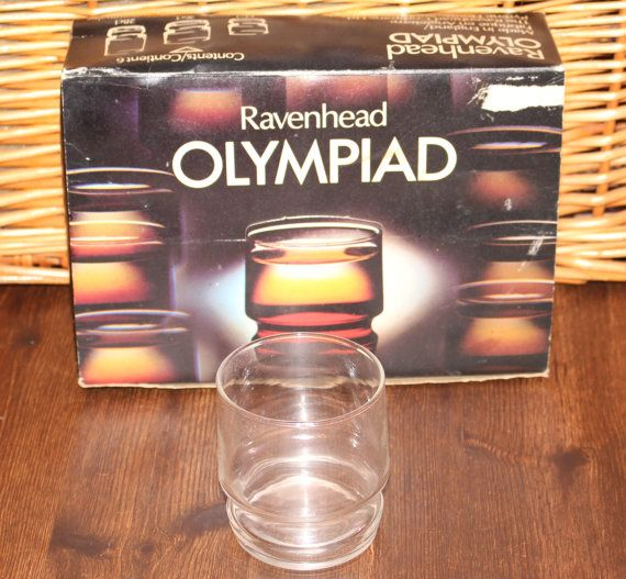 Retro Ravenhead Olympiad 26 Cl. Glasses 1960's Vintage Unused in Box