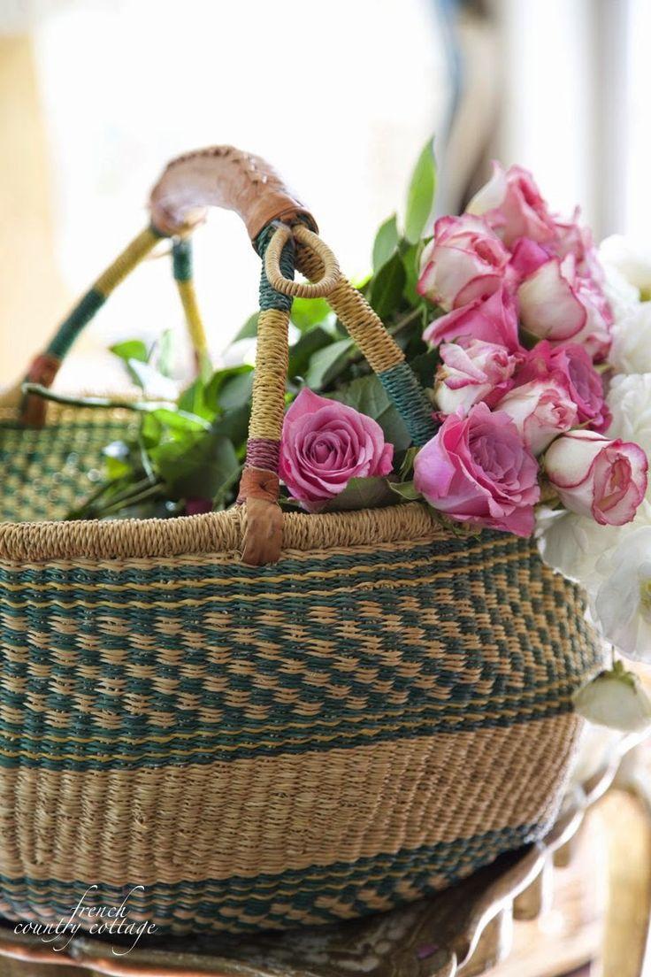 FRENCH COUNTRY COTTAGE: Bolga Market Basket