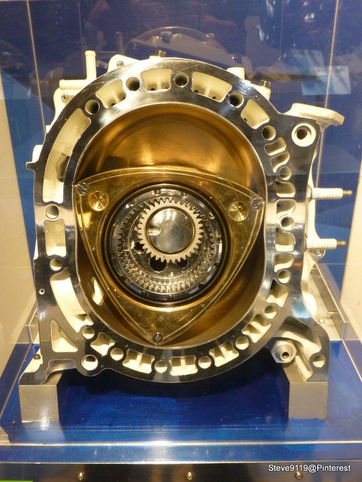 Mazda Wankel rotary engine @ Mazda museum, Hiroshima, Japan