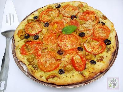 Vegana porque me da la gana: PIZZA AL PESTO