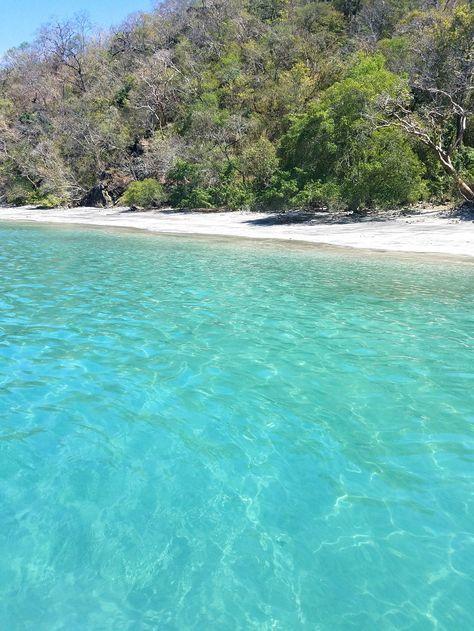 Playa Huevo, a hidden boat access only beach in Guanacaste. Costa Rica