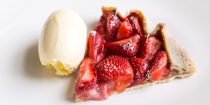 Strawberry and almond tart
