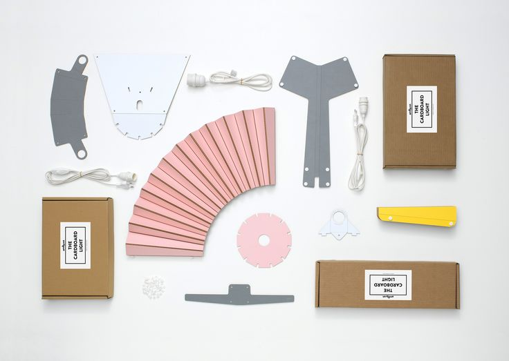 The Cardboard Light Collection - parts and boxes