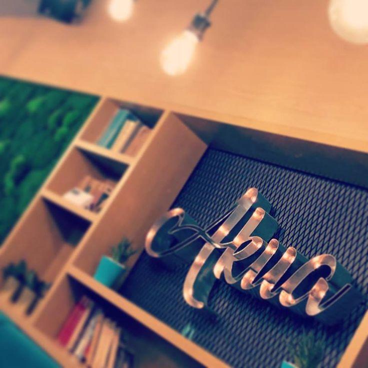 Pub design Bar design Green pannels&3D writing