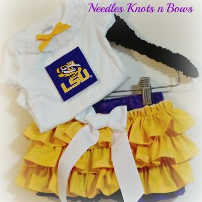 Girls lsu tigers football outfit, baby girls louisiana state university coming home outfit, lsu baseball game day outfit