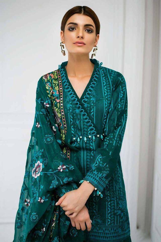 4197f7437 Pakistani Casual green kurta
