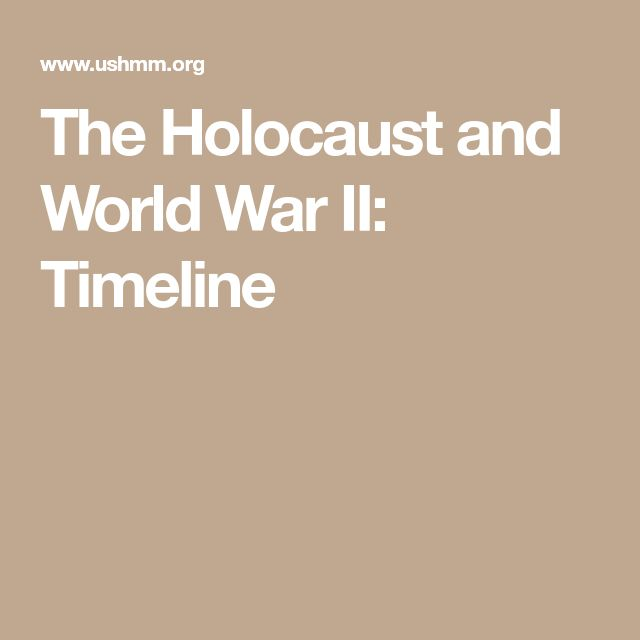 #7 The Holocaust and World War II: Timeline - USHMM https://www. ushmm.org/wlc/en/article.php?ModuleId=10007653 This resource is a timeline of the Holocaust and WWII from 1933-1945. I would give this to the students to keep in their classroom binders. As we study the Holocaust, students can use this a reference guide. We could also check off events as we discuss them. #ww2#holocaust#etlobest