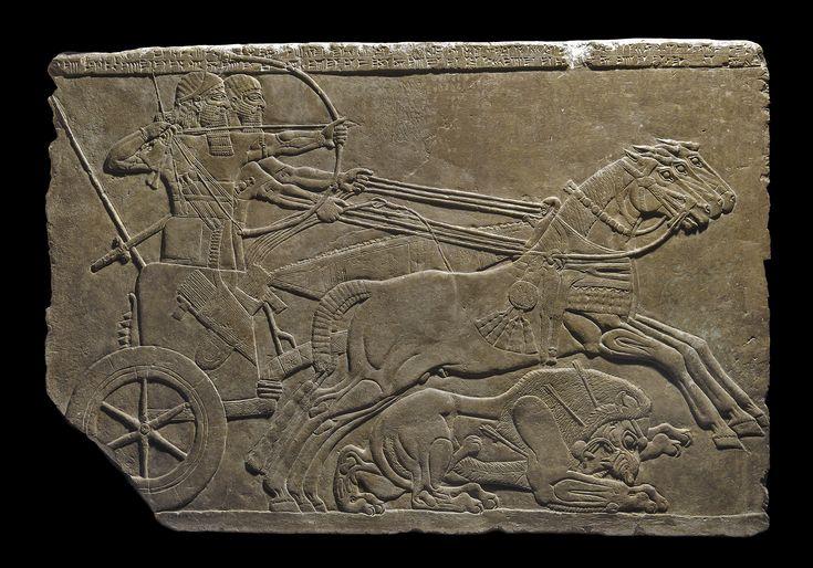 Royal lion hunt, Assyria 875-860 B.C.