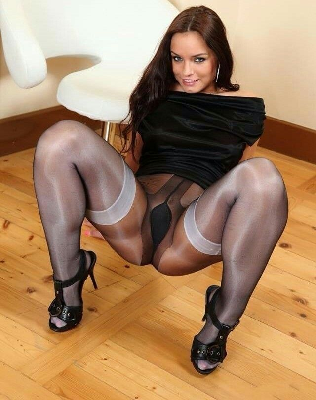 Have Black and white nylon stockings phrase and