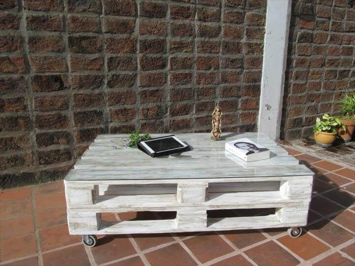 Distressed White Pallet Coffee Table Crate Coffee Table Pallet