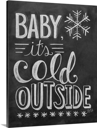 Add some fun chalkboard handlettering art to your walls this winter season! Check out this canvas wrap at GreatBIGCanvas.com
