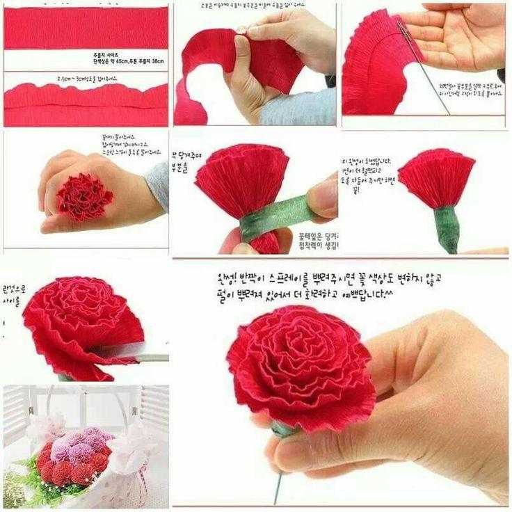 Bloemen maken van crepe- papier