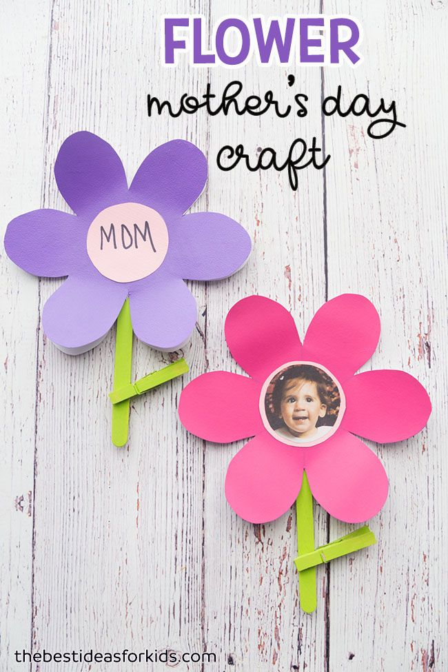 These Flower Template crafts are perfect to make for Mom or Grandma for Mother's Day! We love how simple this Mother's Day craft is for preschoolers! Mother's Day Crafts for Preschoolers | Mother's Day Crafts for Kids to Make | Mother's Day Crafts for Toddlers | Mother's Day Gifts from Kids | Free Printable Flower Template | Free Flower Template #bestideasforkids #mothersday #diy #kidscraft via @bestideaskids