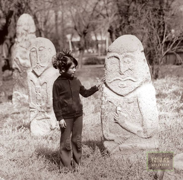 Balbals, Kyrgyzstan. t has been suggested that balbal is derived from the Turkic word baba, meaning 'father' or 'ancestor'. Generally speaking, balbals are pieces of stone or wood stuck into the ground. They would often depict a human figure.