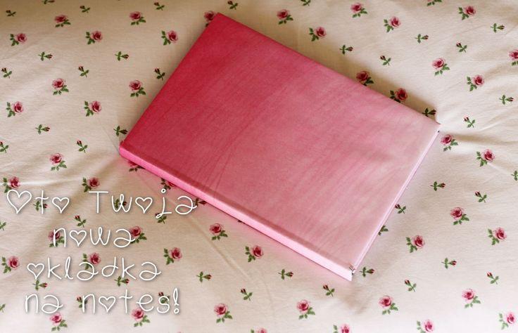 DIY: book ombre cover! Click for more. http://zpasjadozycia.blogspot.com/2014/05/diy-okadka-na-notes-ombre.html
