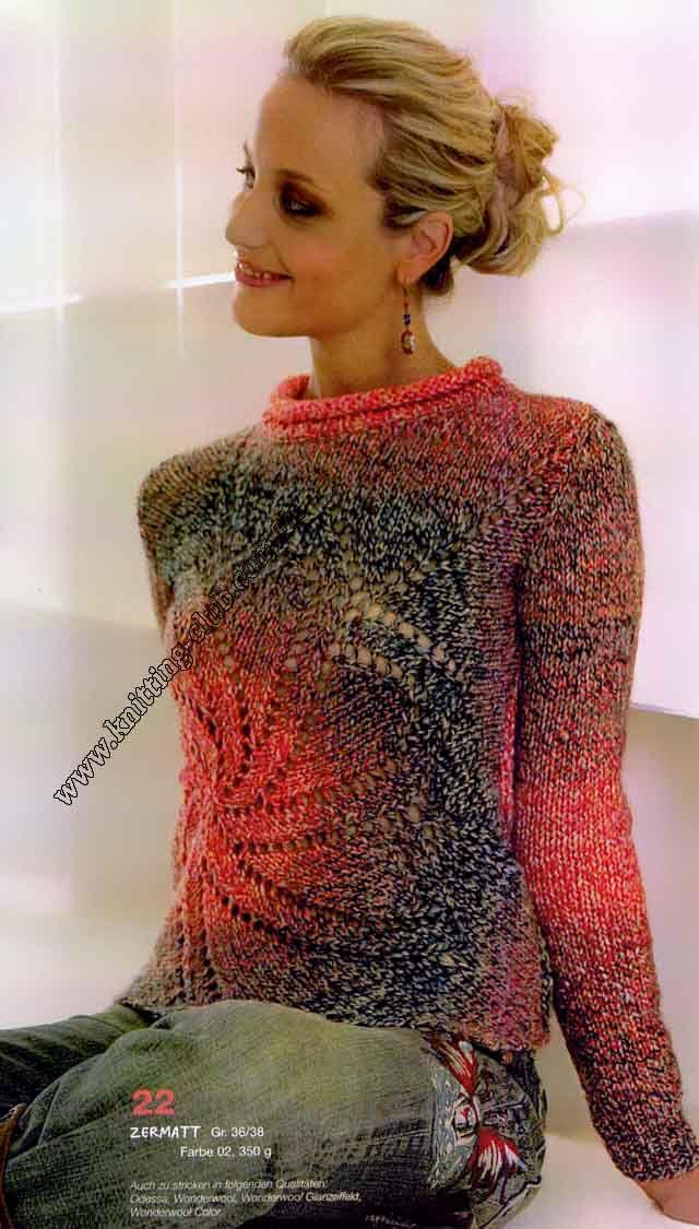 Джемпер со спиральным узором, Джемпер женский, свитер женский, вязаный джемпер женский, вязаный свитер женский. вязание спицами, модели вязаной одежды, джемпер женский (описание и схемы), вязание на заказ, джемпер на заказ