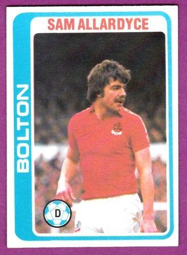 TOPPS 1979 FOOTBALLERS #183-BOLTON WANDERERS-SAM ALLARDYCE