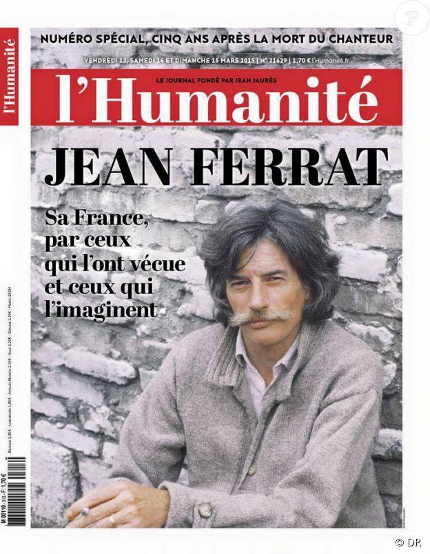 L'Humanité du 13 mars 2015, édition consacrée à Jean Ferrat, au cinquième anniversaire de sa mort.