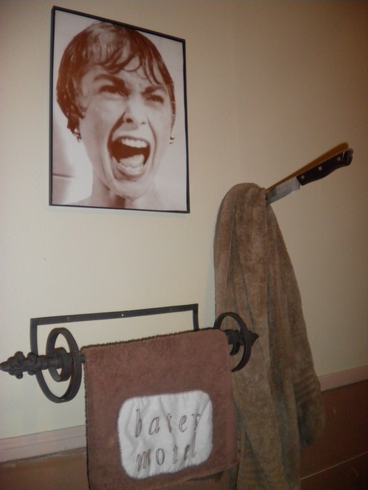 Psycho Bathroom Decor The Towel Says Bates Motel