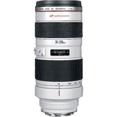 CANON EF 70-200/2.8 L USM. Great telephoto lens for shooting action.
