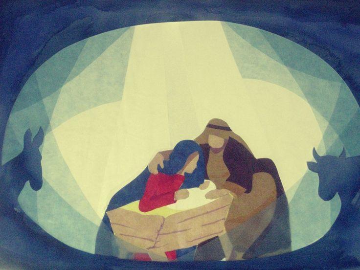 Weihnachtskarten - Weihnachtskrippe - ein Designerstück von art4windows bei DaWanda