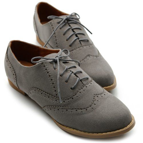 Ollio Womens Shoes Ballet Flats Loafers Faux-Suede Wingtip Oxford Lace Ups (5.5 B(M) US, Grey) Ollio,http://www.amazon.com/dp/B00AQ4Q504/ref=cm_sw_r_pi_dp_bBpfsb0YB1NTCJM2