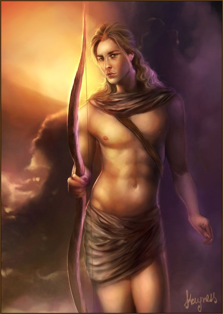 Can anybody find a link that says that the greek god apollo has never seen darkness?