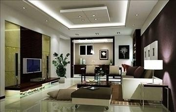 Living Room606 3d Model The Design Of The Interior Models Possible