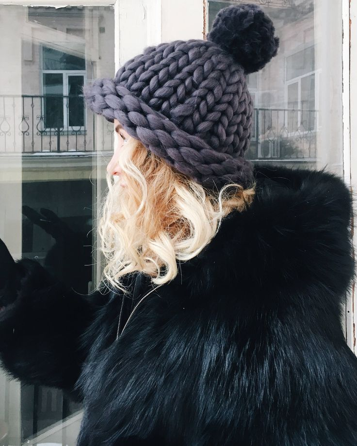 Excited to share the latest addition to my #etsy shop: Women's wool knit hat, Helsinki Hat, Chunky Hat, Super Bulky Hat, Merino wool. Best Price. Fur pom pon