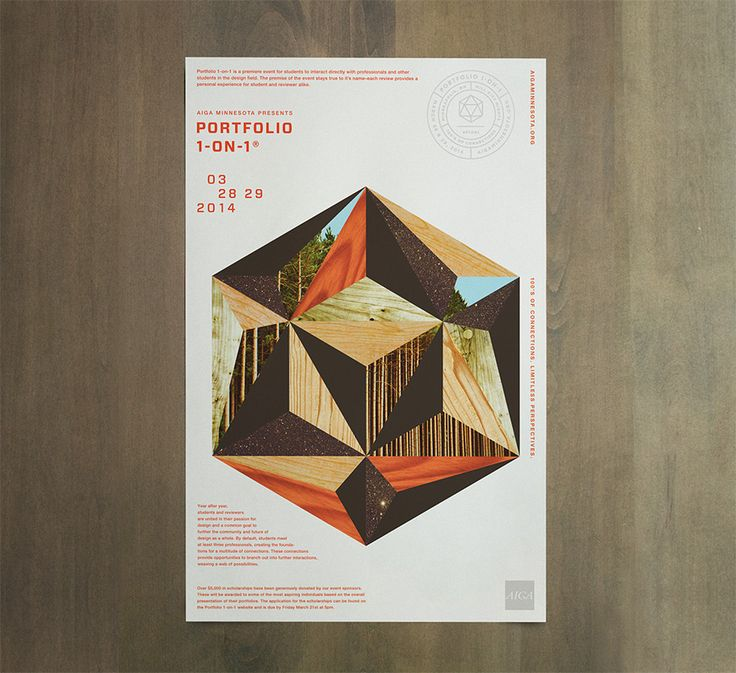 Sneak Peek: AIGA Portfolio 1-on-12014 Poster (via Studio MPLS)