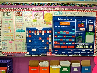 Math Focus Wall! Great integration of different math concepts!